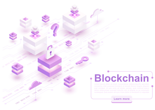 digital blockchain concept