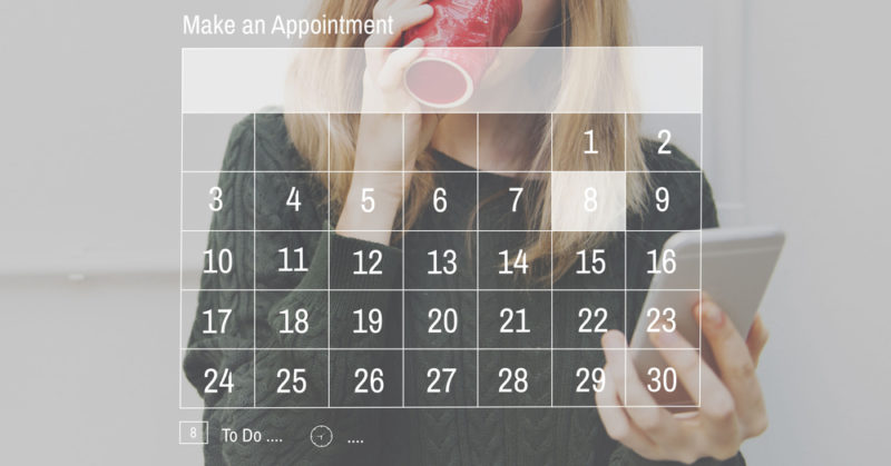 appointment schedule concept